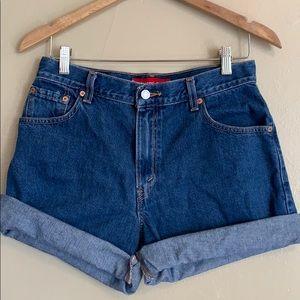 Levi's | High Rise Denim Shorts | 10